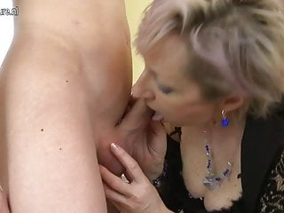 Horny mature mom fucked by young boy