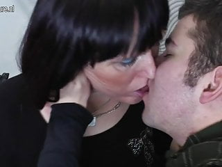 Old slut mother gets fucked by her toyboy
