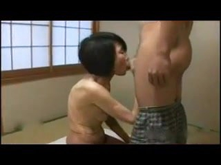 Japanese Granny as skinny as shy - censored