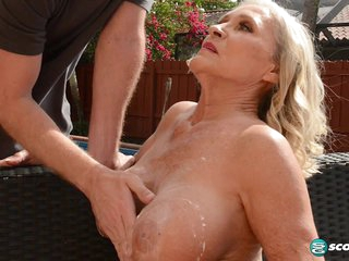Katia's poolside seduction - 60PlusMilfs