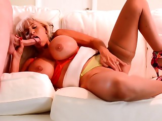 Sally D'Angelo deep throat and deep anal