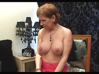 Red Head Brit 46yr Milf Fucks Hard