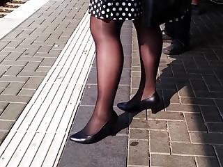 Mature granny nylon feet compalation