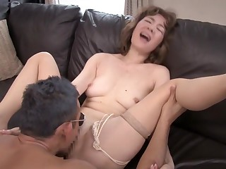 Exotic Japanese slut in Incredible Granny JAV scene