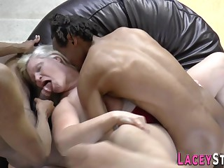 Gran analized and spitroasted in threeway