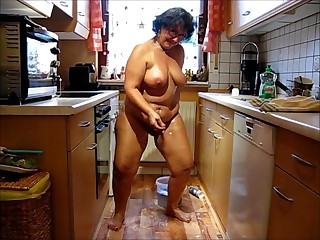 Butt Naked Cleaning Lady Pt. two