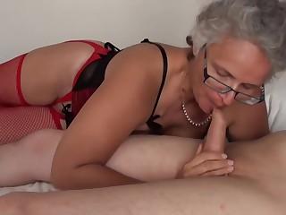Grey haired Granny fucked by Teen Boys