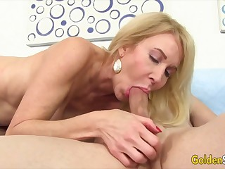 GoldenSlut - Older Ladies Show off Their Cock Sucking Skills Compilation 10