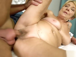 Chubby grand-mother and her younger lover