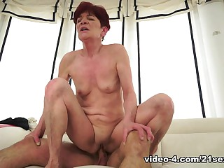 Angela Reed in Redhead Granny in action Video