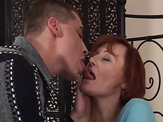 Redhead mature and boy
