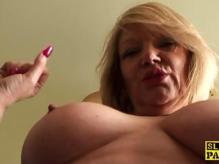 Glamorous granny fingering herself