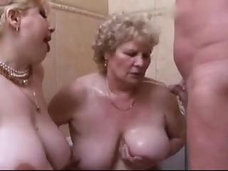 3 Old Fat Grannies Gangbang