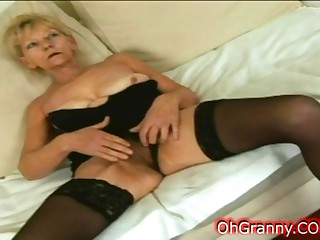 horny blonde granny needs young cock