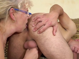 Granny loves getting banged by a big hard cock