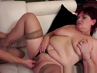 Granny In Stockings Eaten