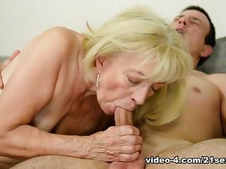 Fabulous pornstars in Incredible Grannies, Blonde adult scene