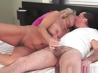 Glamorous Granny Sucking And Riding Dick