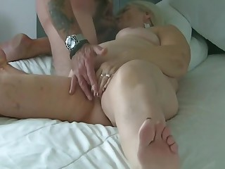 70 year old granny sucks my cock and balls and drinks cum