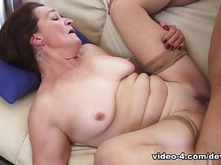 Incredible pornstars in Fabulous Stockings, Redhead xxx scene