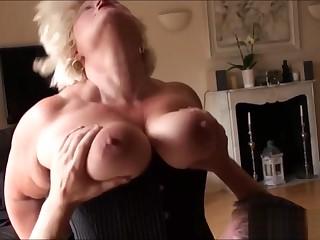 Deep throat granny butt fucked