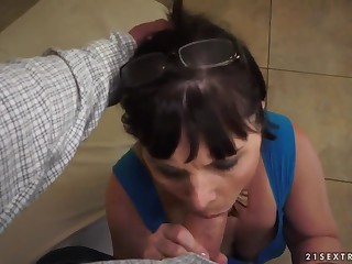 Granny feels dong entering snatch and mouth