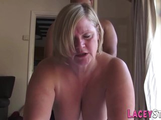 Busty Plump Grandma Lacey Starr Gets Interracially Fingered And Banged