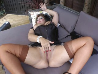 Stockings Grandma In Mood For Outdoor Sex